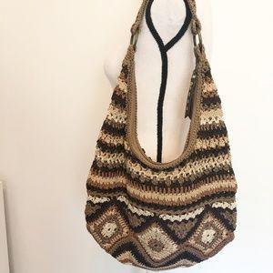 The Sak brown and tan hobo bag